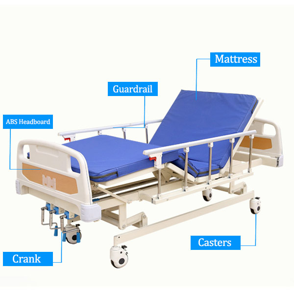 3 Function Manual Hospital Beds manufacturers