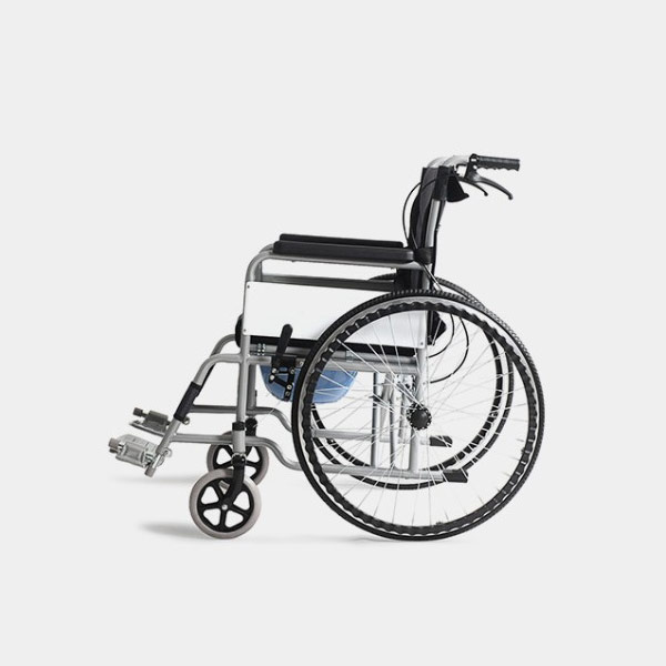 Foldable Wheelchair With Commode Seat Bedpan