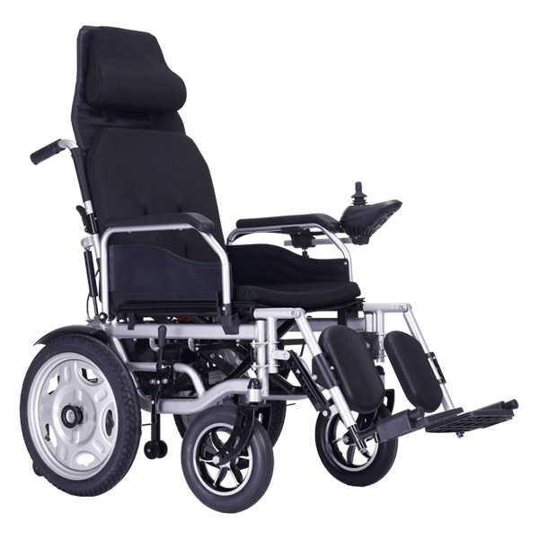 High back electric wheelchair