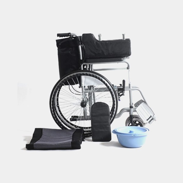 Manual Wheelchair With Commode