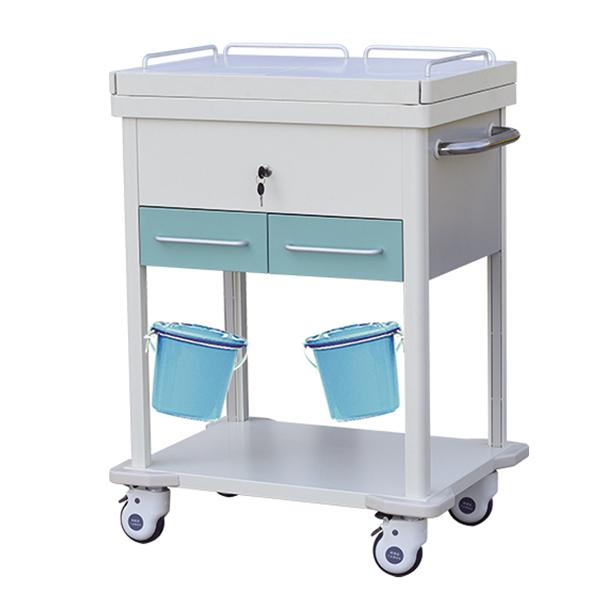 YJ-B029 Steel Plastic Medical Treatment Trolley