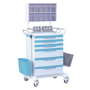 china medical plastic anesthesia cart manufacturer