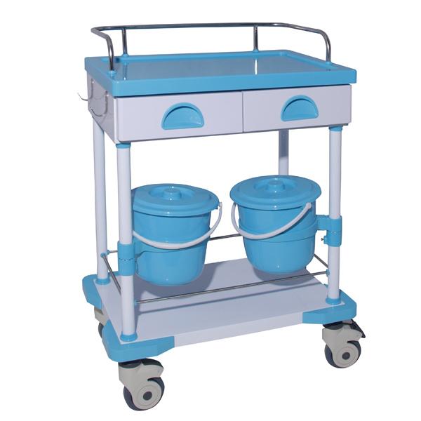 mobile steel-plastic treatment trolley