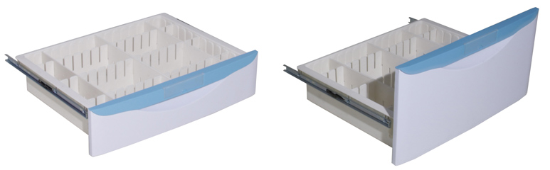 plastic anesthesia cart drawers