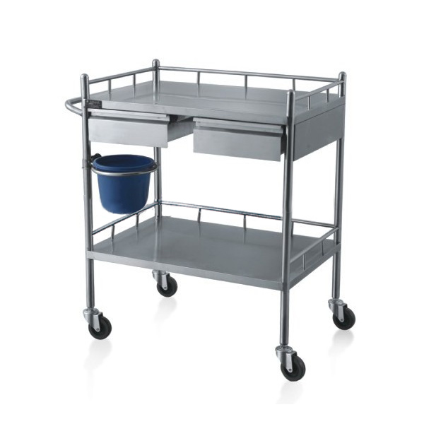 Factory price stainless steel hospital treatment trolley