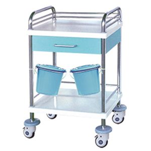 medical steel plastic treatment trolley