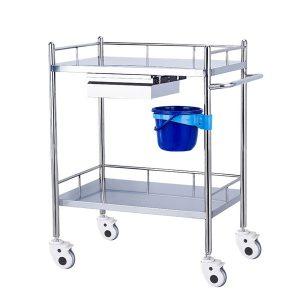 hospital steel medical nursing treatment trolley manufacturer